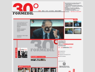 trentennaleformedil.it screenshot