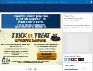 trentonthunder.com screenshot