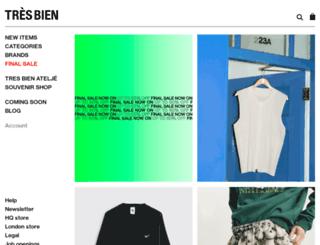 tresbienshop.com screenshot