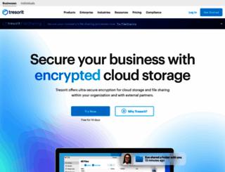 tresorit.com screenshot