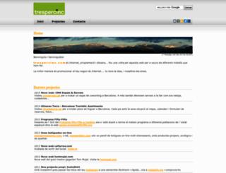 trespercinc.com screenshot