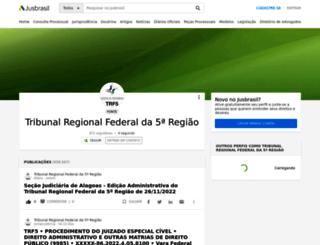 trf-5.jusbrasil.com.br screenshot