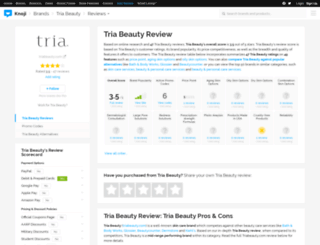 triabeauty.knoji.com screenshot