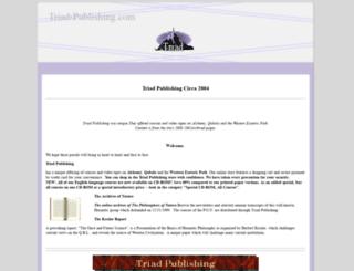 triad-publishing.com screenshot