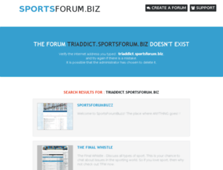 triaddict.sportsforum.biz screenshot