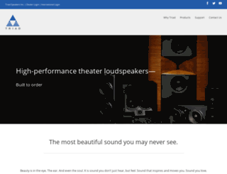 triadspeakers.com screenshot