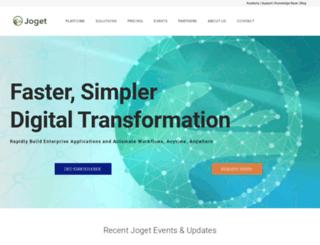 trial.joget.com screenshot