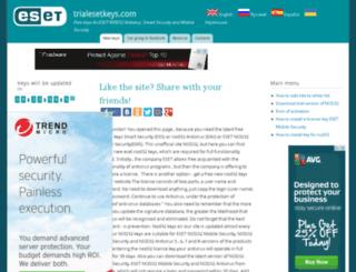 trialesetkeys.com screenshot