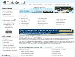 trialscentral.org screenshot