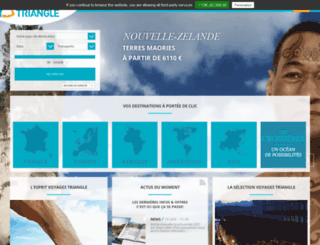 triangle-voyages.com screenshot