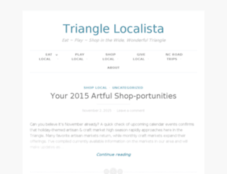 trianglelocalista.com screenshot
