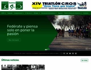 triatlonandalucia.org screenshot