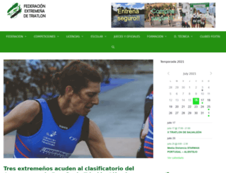triatlonextremadura.com screenshot