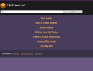 tribalmixes.net screenshot