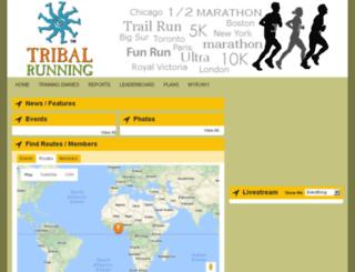 tribalrunning.trainingdiaries.com screenshot