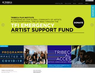 tribecafilminstitute.org screenshot