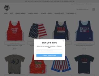 tribelacrosse.com screenshot