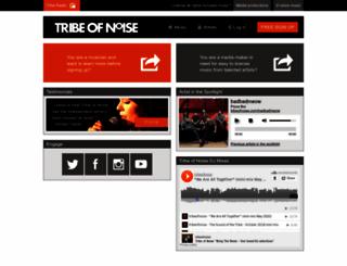 tribeofnoise.com screenshot