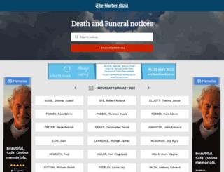 tributes.bordermail.com.au screenshot