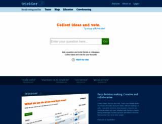 tricider.com screenshot