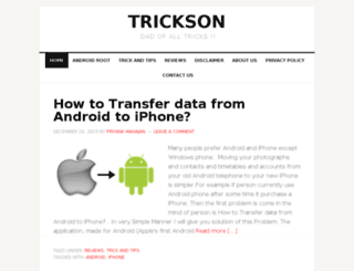 trickson.com screenshot