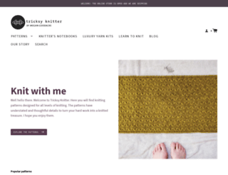 tricksyknitter.com screenshot
