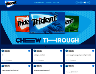 tridentgum.com screenshot