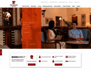 tridenthotels.com screenshot