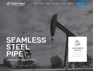 tridentsteel.co.in screenshot