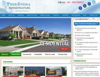 tridindiainfrastructure.com screenshot