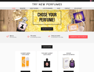 triesofnewperfumes.com screenshot