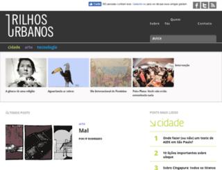 trilhosurbanos.com screenshot