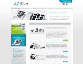 trillium.com.au screenshot