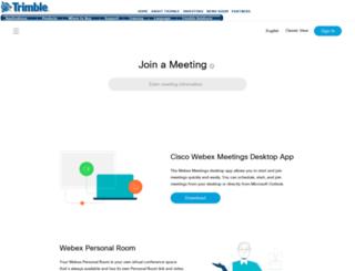 trimble.webex.com screenshot