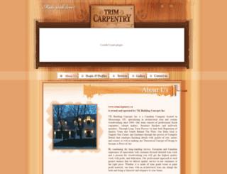 trimcarpentry.ca screenshot