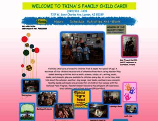 trinasfamilychildcare.com screenshot