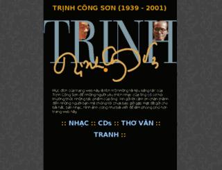 trinh-cong-son.com screenshot