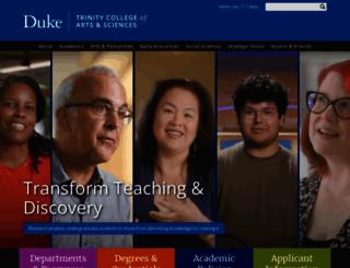 trinity.duke.edu screenshot