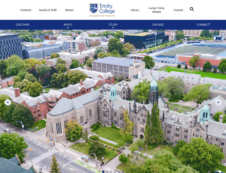 trinity.utoronto.ca screenshot