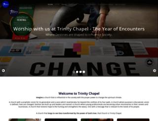 trinitychapel.org.uk screenshot