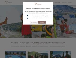 trinityhotels.sk screenshot