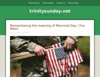trinitysunday.net screenshot