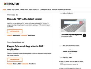 trinitytuts.com screenshot