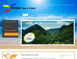 triniustravel.ro screenshot