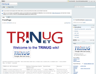 trinug.pbwiki.com screenshot