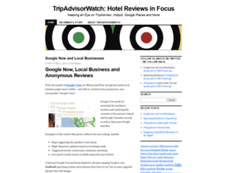 tripadvisorwatch.wordpress.com screenshot
