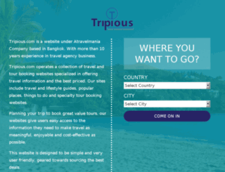 tripious.mvmprojects.com screenshot