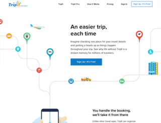 tripit.com screenshot