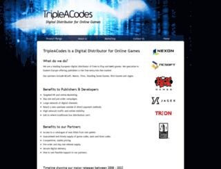 tripleacodes.com screenshot