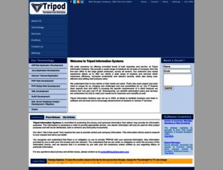 tripodinfosystem.com screenshot